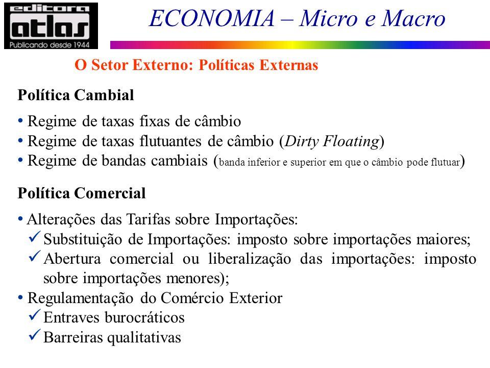O Setor Externo: Políticas Externas