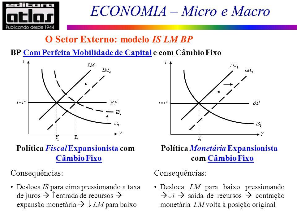O Setor Externo: modelo IS LM BP