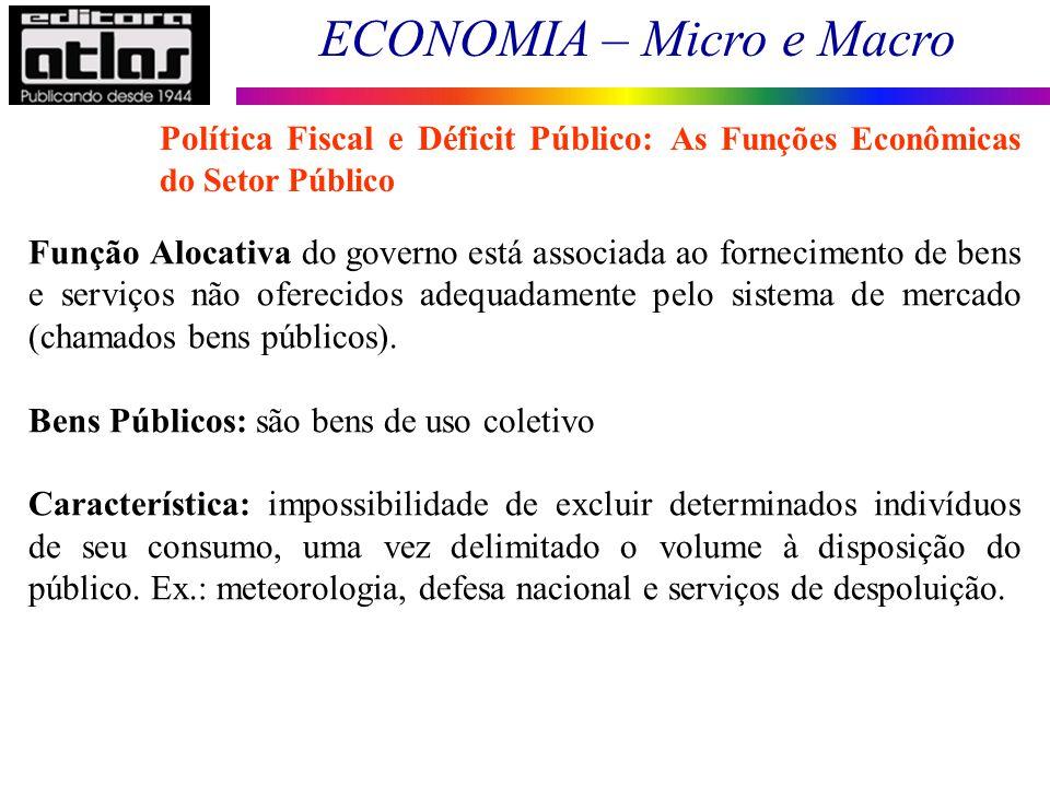 Política Fiscal e Déficit Público: As Funções Econômicas do Setor Público