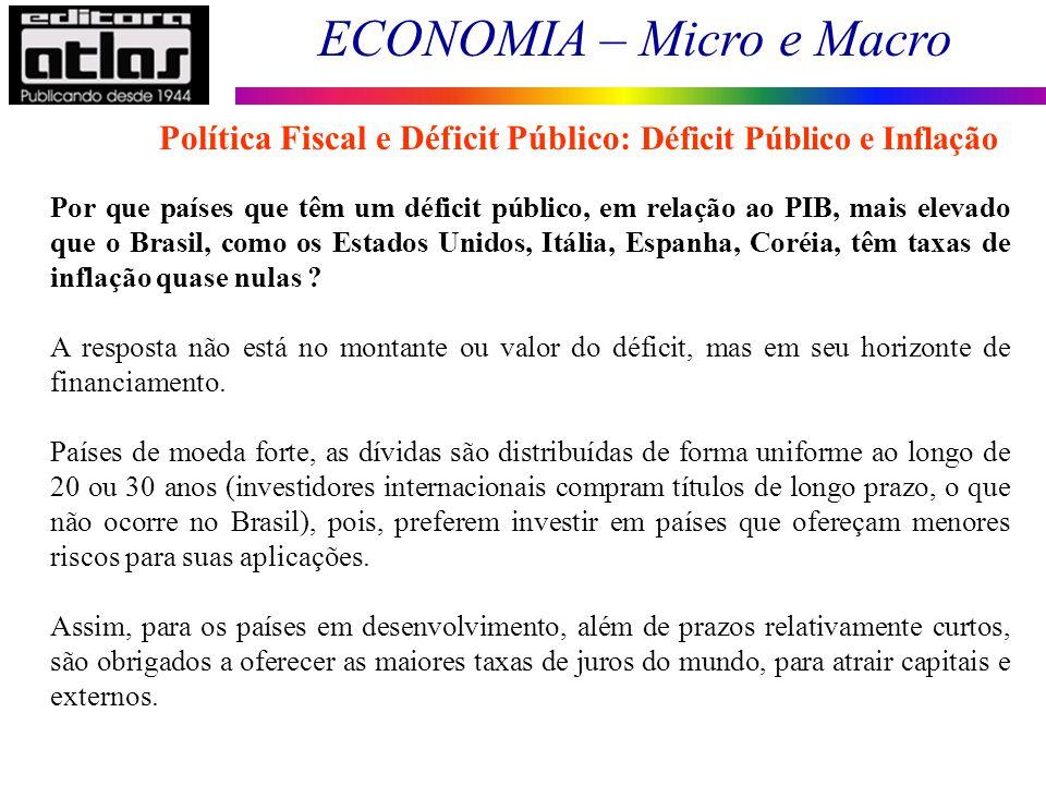 Política Fiscal e Déficit Público: Déficit Público e Inflação