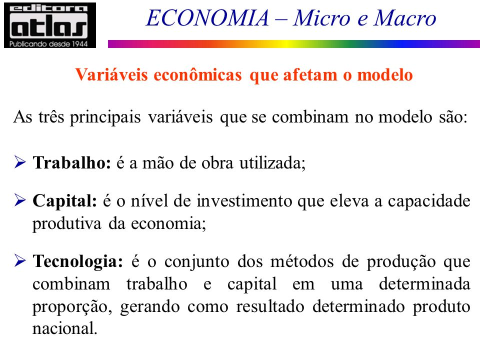 Variáveis econômicas que afetam o modelo