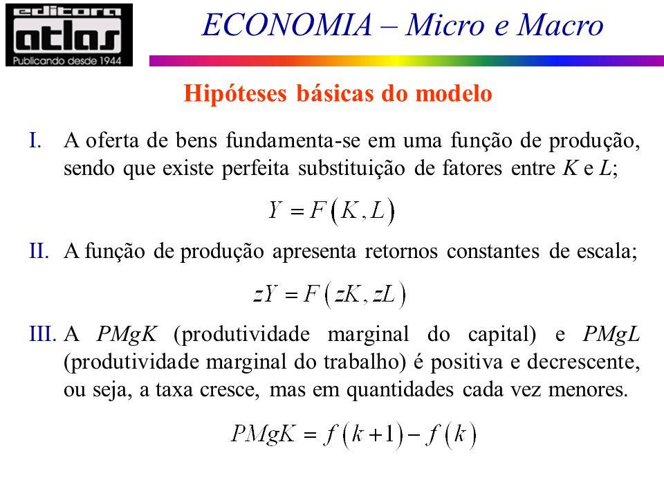 Hipóteses básicas do modelo