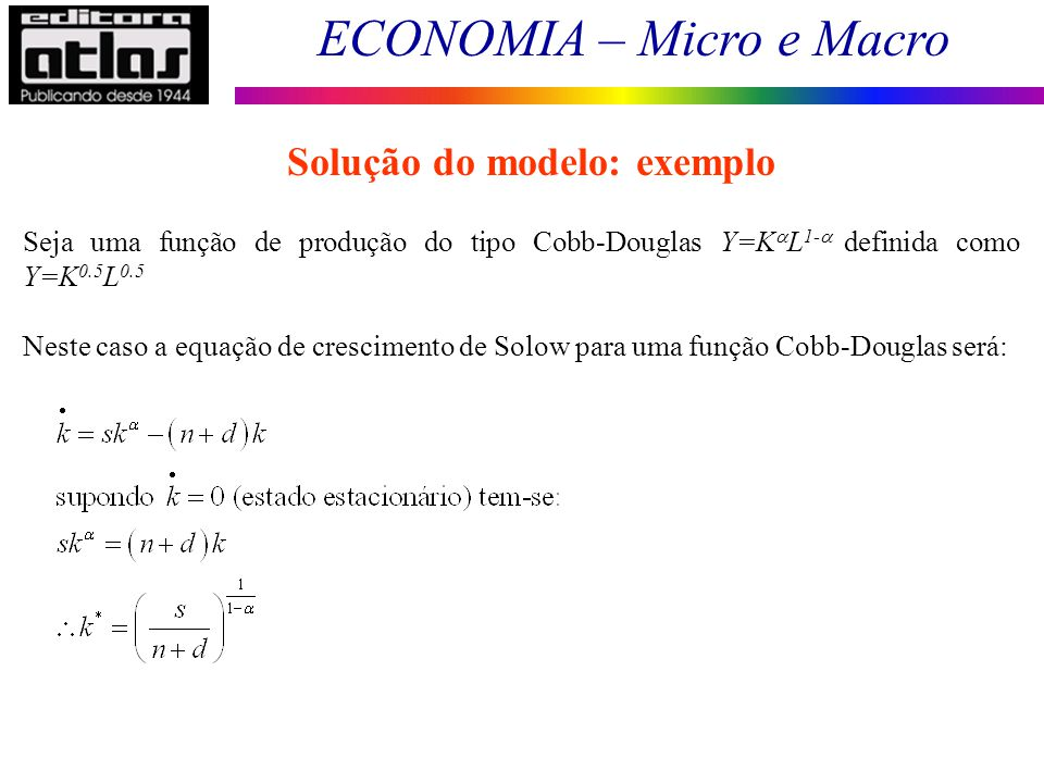 Solução do modelo: exemplo