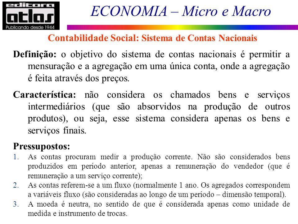 Contabilidade Social: Sistema de Contas Nacionais
