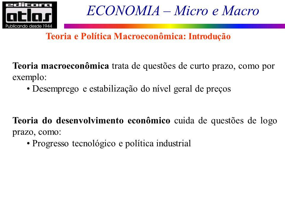 Teoria e Política Macroeconômica: Introdução