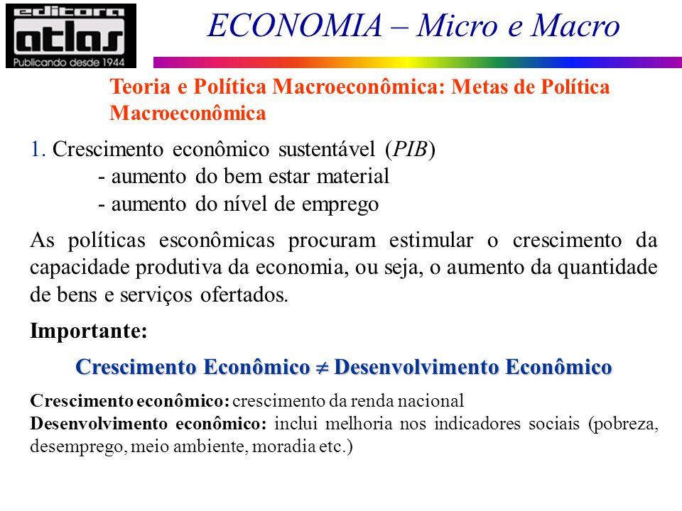 Crescimento Econômico  Desenvolvimento Econômico