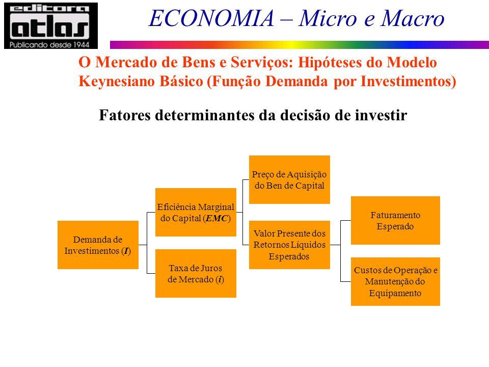 Fatores determinantes da decisão de investir
