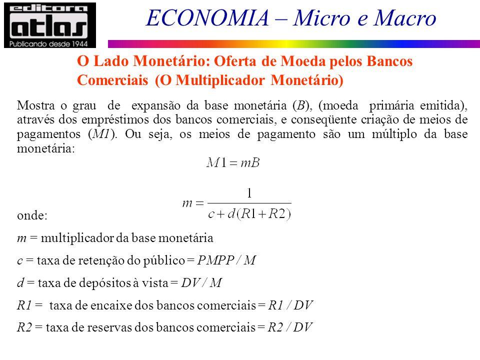 O Lado Monetário: Oferta de Moeda pelos Bancos Comerciais (O Multiplicador Monetário)