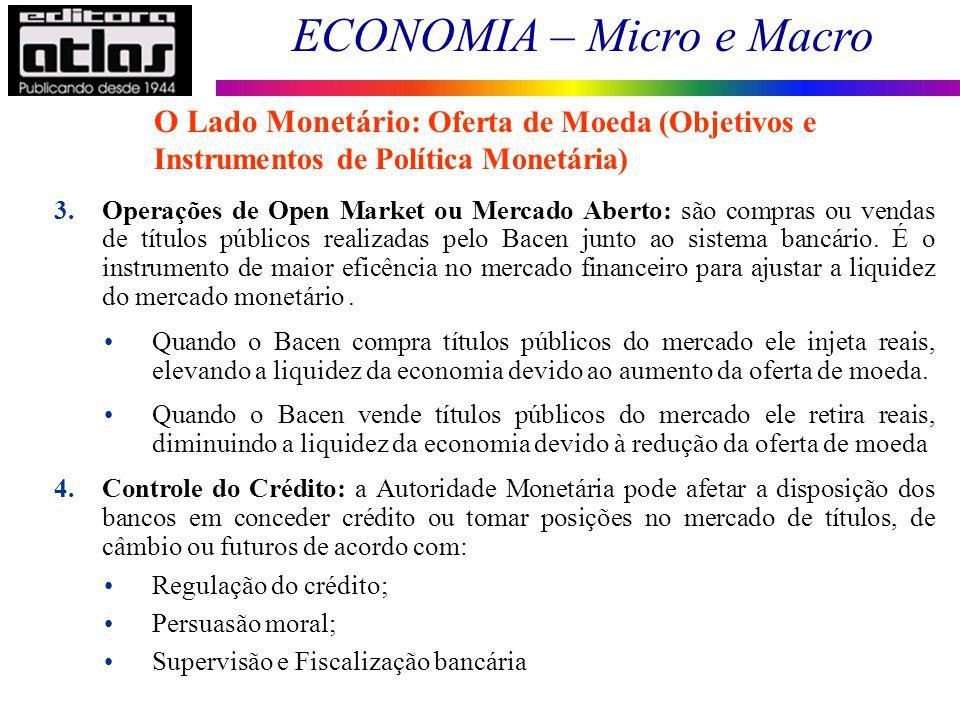 O Lado Monetário: Oferta de Moeda (Objetivos e Instrumentos de Política Monetária)