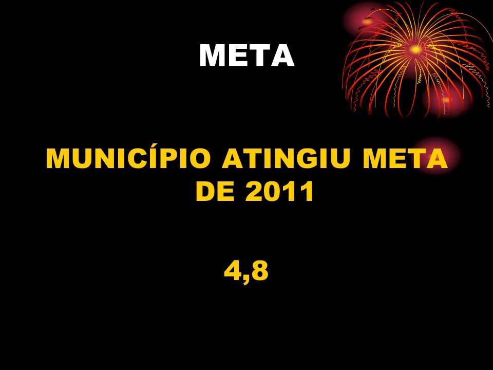 MUNICÍPIO ATINGIU META DE 2011 4,8