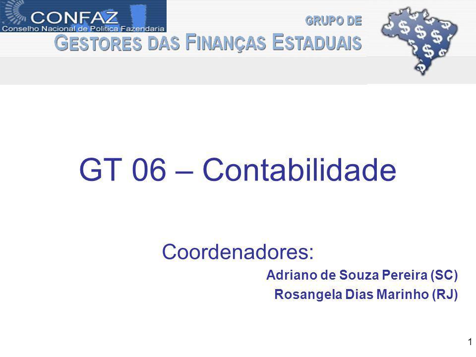GT 06 – Contabilidade Coordenadores: Adriano de Souza Pereira (SC)