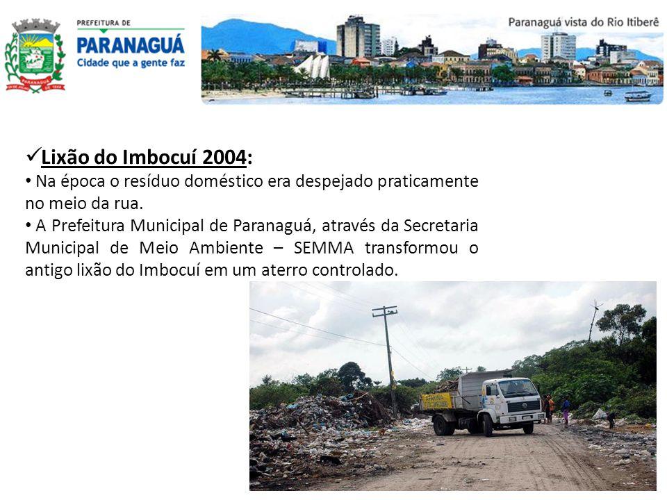 Lixão do Imbocuí 2004: Na época o resíduo doméstico era despejado praticamente no meio da rua.