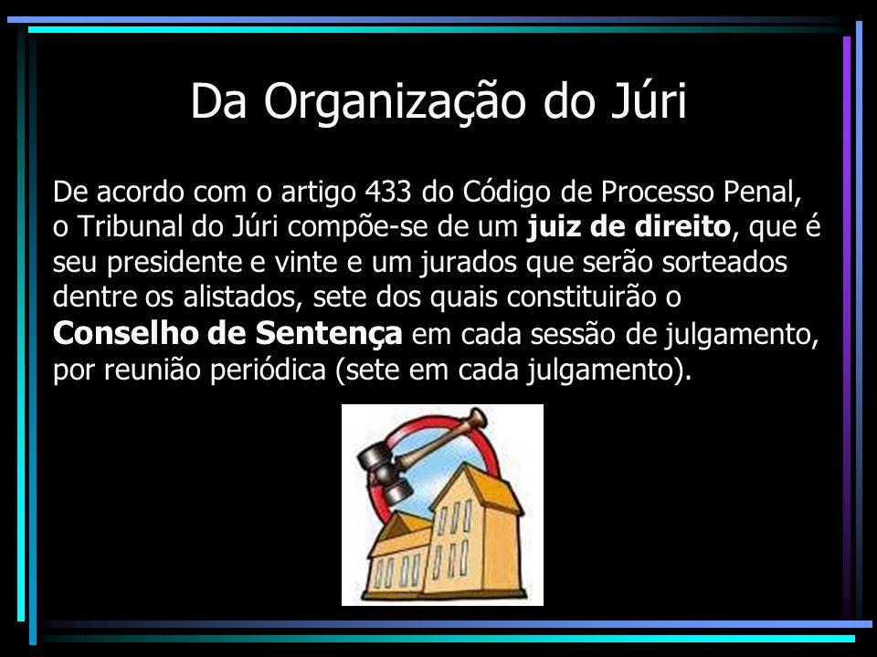 Da Organização do Júri