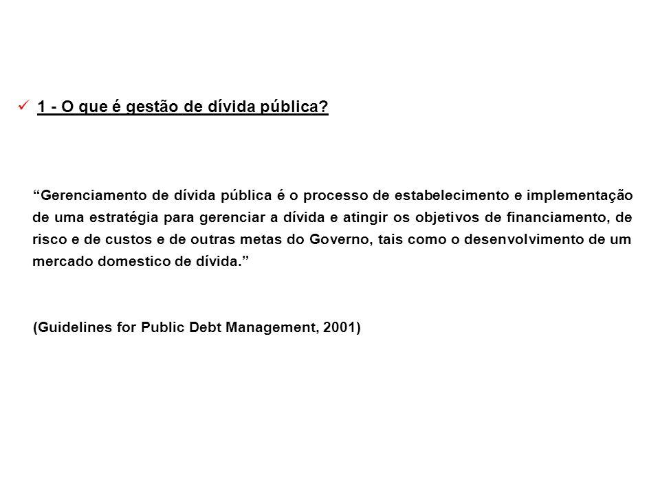 1 - O que é gestão de dívida pública