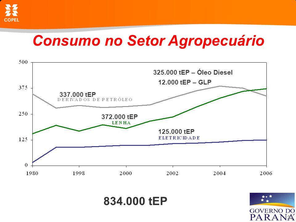 Consumo no Setor Agropecuário
