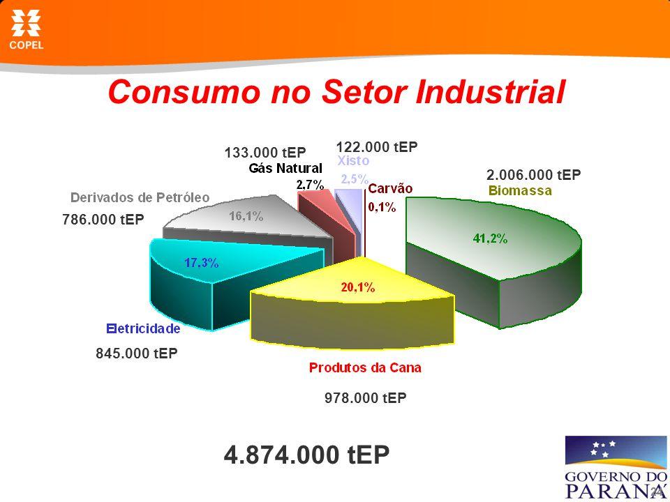 Consumo no Setor Industrial