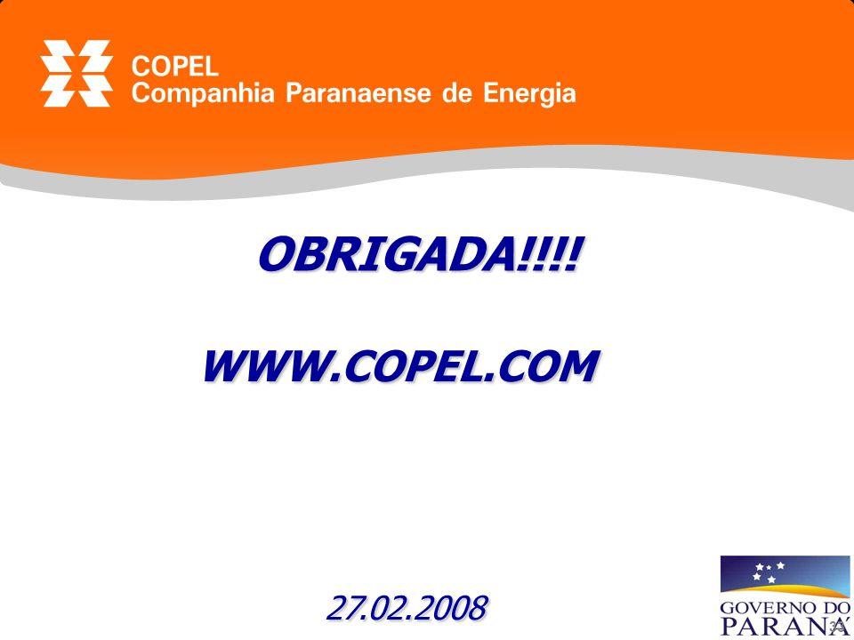 OBRIGADA!!!! WWW.COPEL.COM 27.02.2008