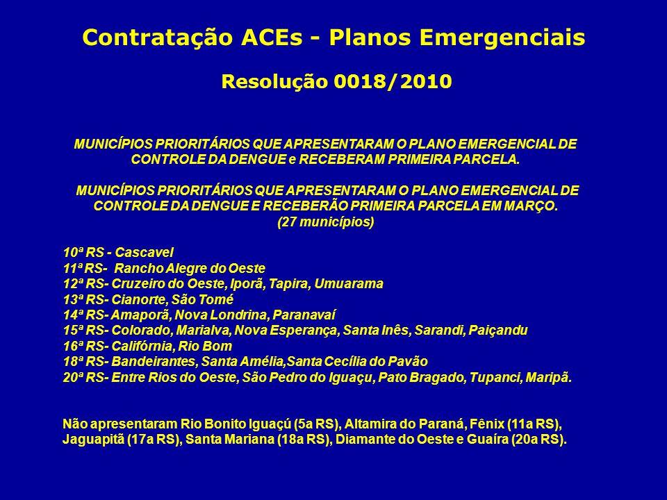 Contratação ACEs - Planos Emergenciais