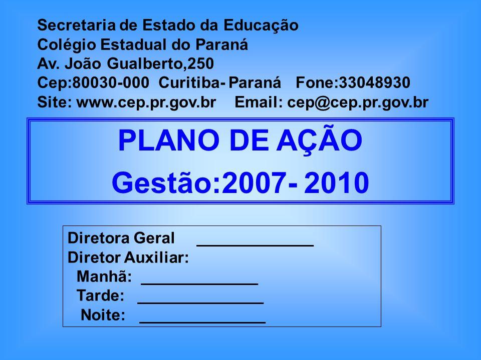 Secretaria de Estado da Educação Colégio Estadual do Paraná Av