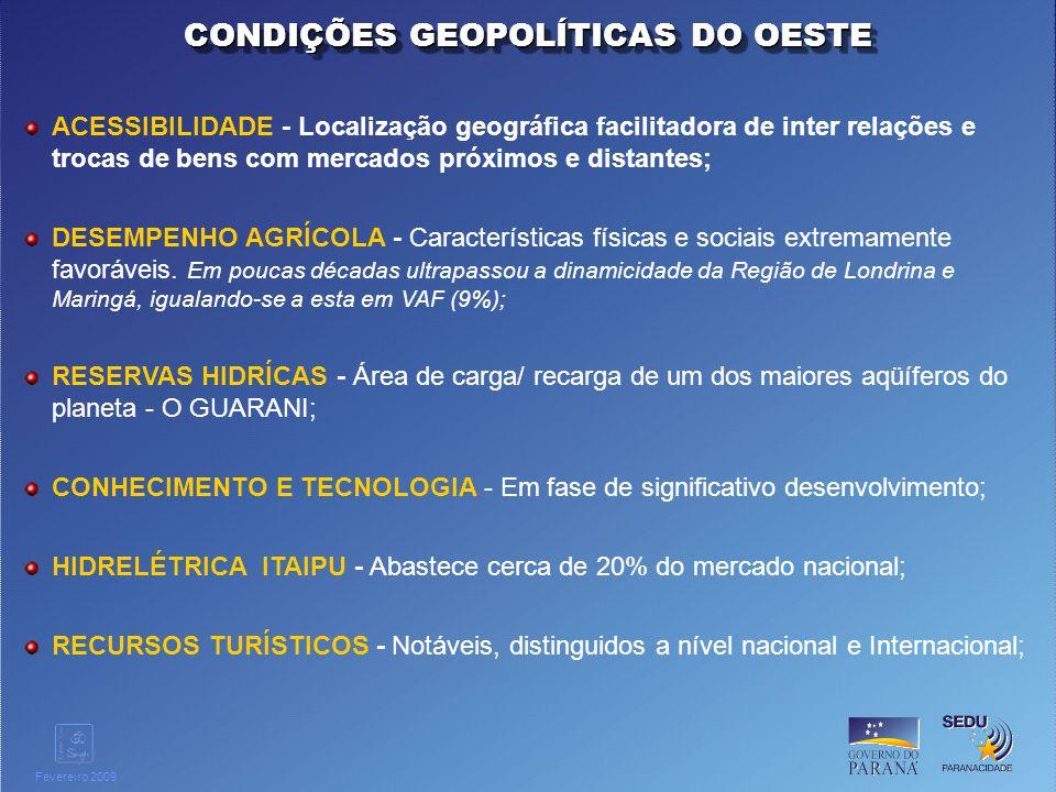 CONDIÇÕES GEOPOLÍTICAS DO OESTE