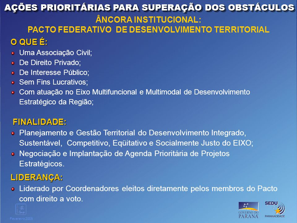 ÂNCORA INSTITUCIONAL: PACTO FEDERATIVO DE DESENVOLVIMENTO TERRITORIAL