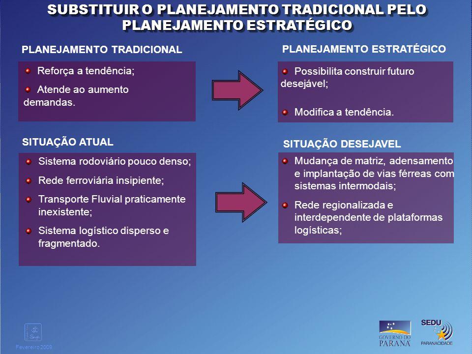SUBSTITUIR O PLANEJAMENTO TRADICIONAL PELO PLANEJAMENTO ESTRATÉGICO