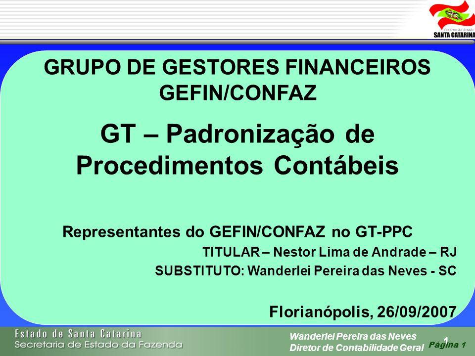 GT – Padronização de Procedimentos Contábeis