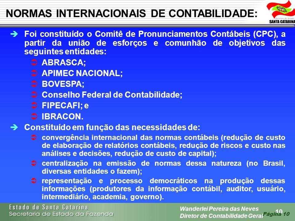 NORMAS INTERNACIONAIS DE CONTABILIDADE: