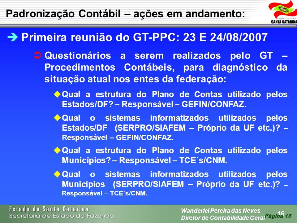Primeira reunião do GT-PPC: 23 E 24/08/2007