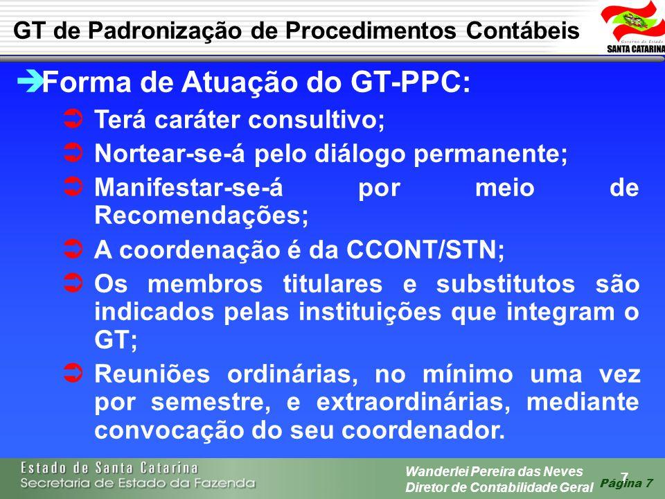 Forma de Atuação do GT-PPC: