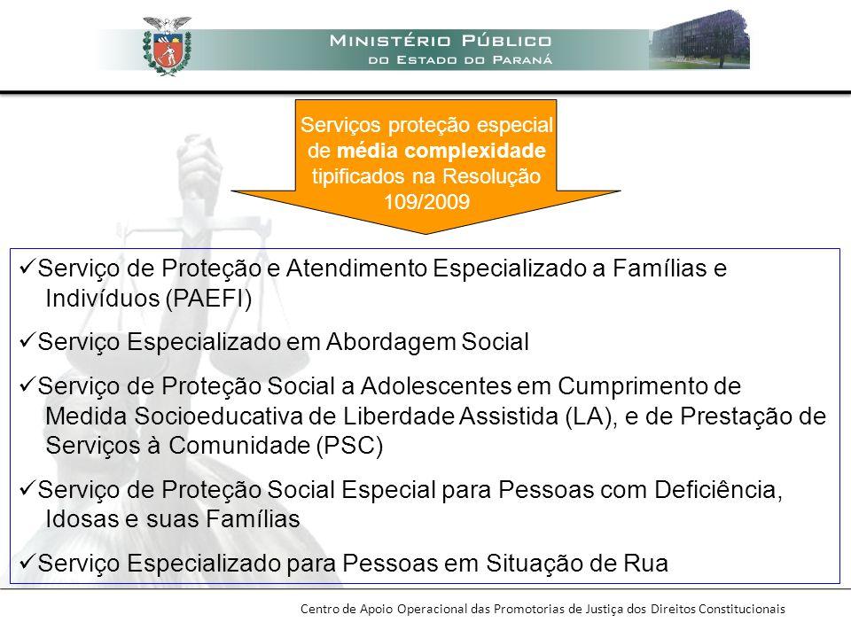 Serviço de Proteção e Atendimento Especializado a Famílias e