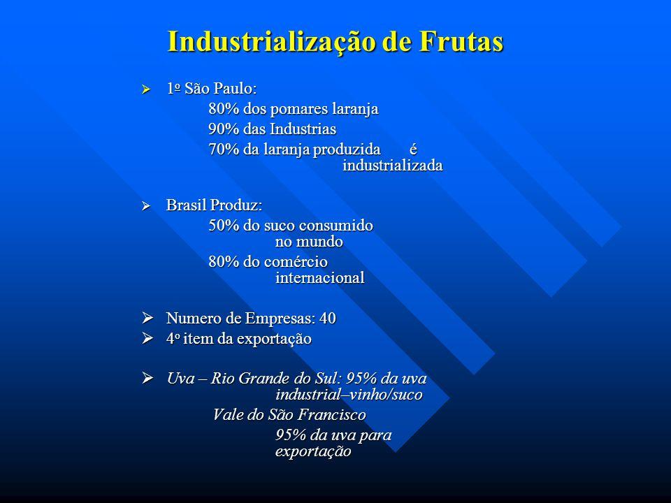 Industrialização de Frutas