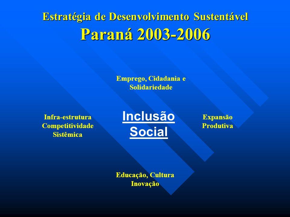 Estratégia de Desenvolvimento Sustentável Paraná 2003-2006