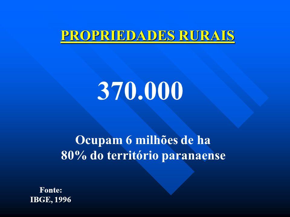 80% do território paranaense