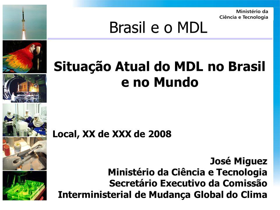 Situação Atual do MDL no Brasil e no Mundo