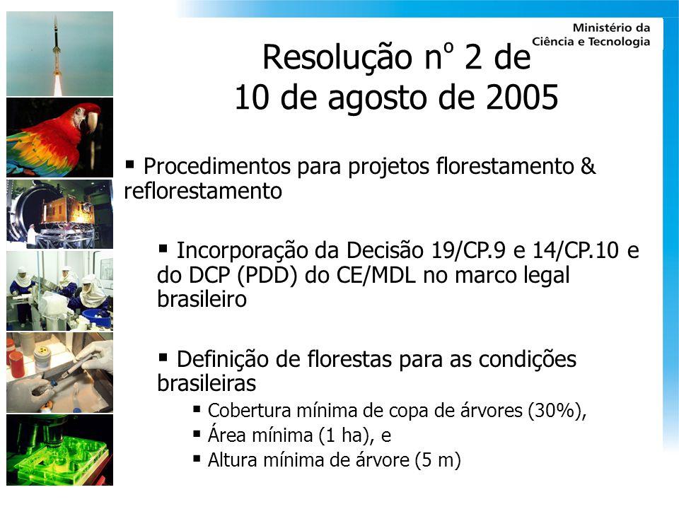 Resolução nº 2 de 10 de agosto de 2005