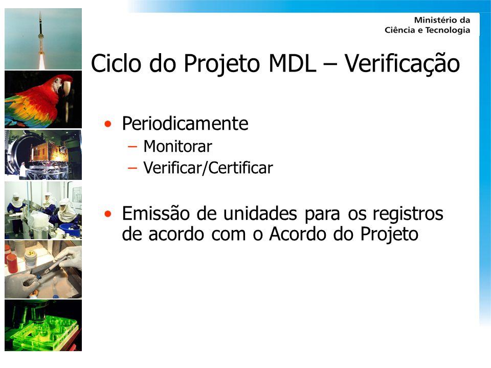 Ciclo do Projeto MDL – Verificação