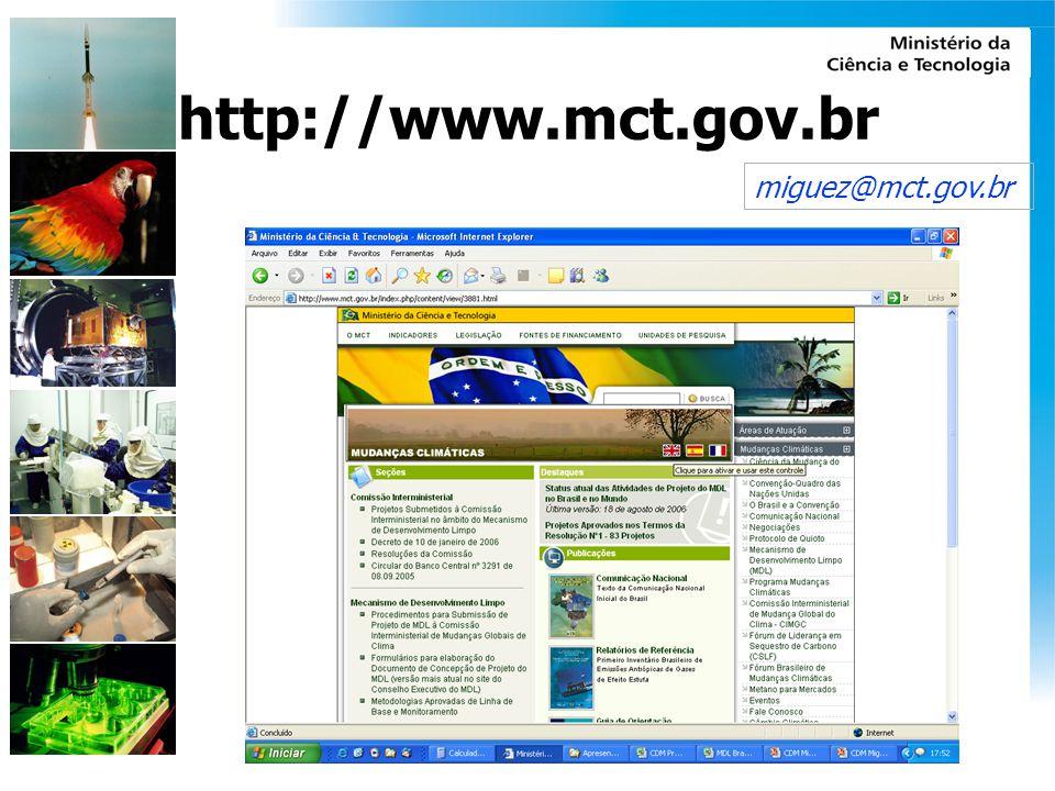 http://www.mct.gov.br miguez@mct.gov.br