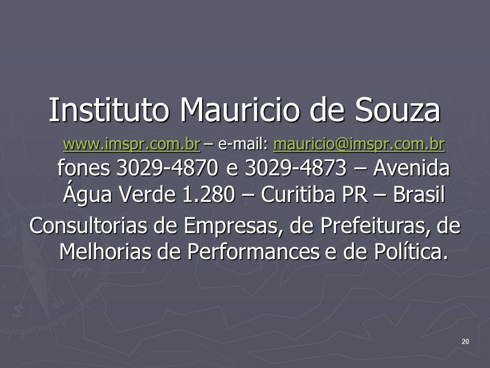 Instituto Mauricio de Souza www. imspr. com