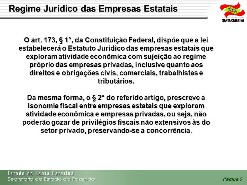 Regime Jurídico das Empresas Estatais