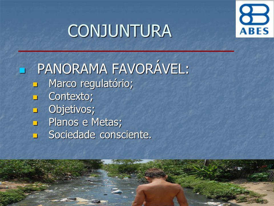 CONJUNTURA PANORAMA FAVORÁVEL: Marco regulatório; Contexto; Objetivos;