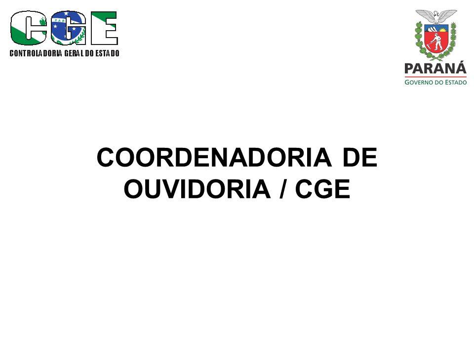 COORDENADORIA DE OUVIDORIA / CGE