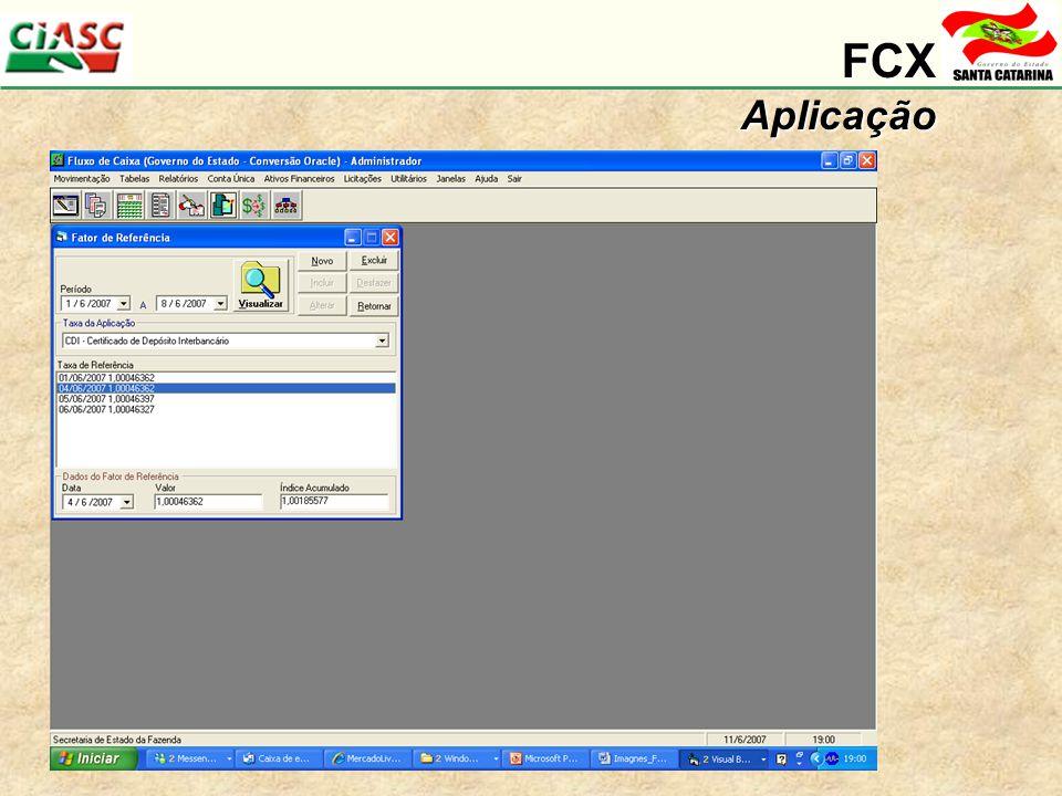 FCX Aplicação