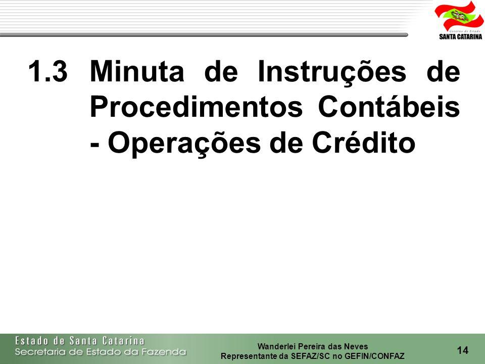 1.3 Minuta de Instruções de Procedimentos Contábeis - Operações de Crédito