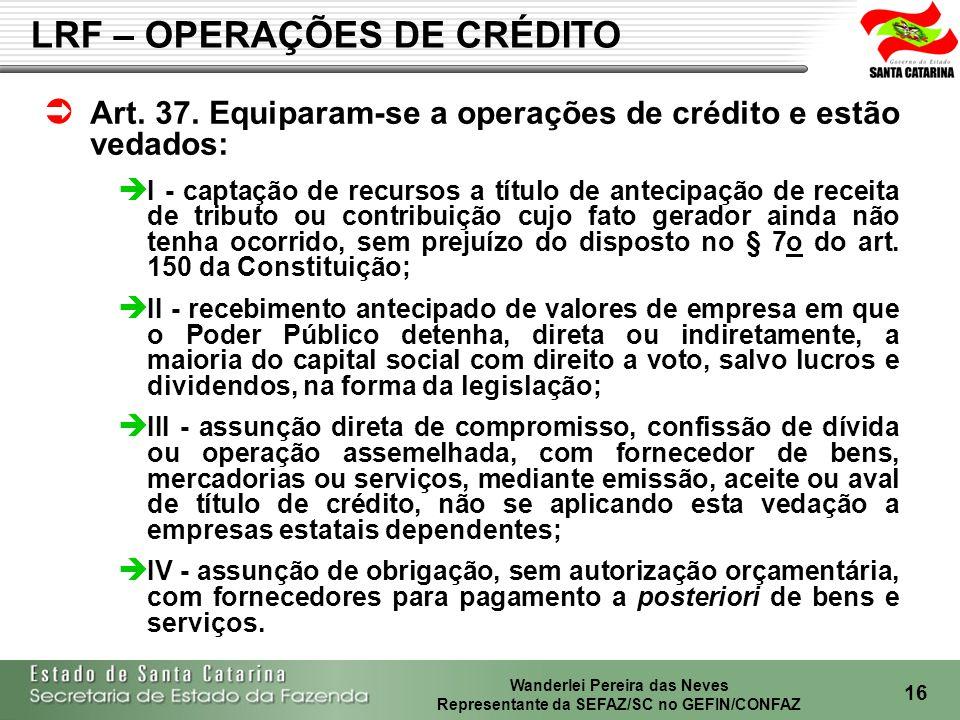 LRF – OPERAÇÕES DE CRÉDITO