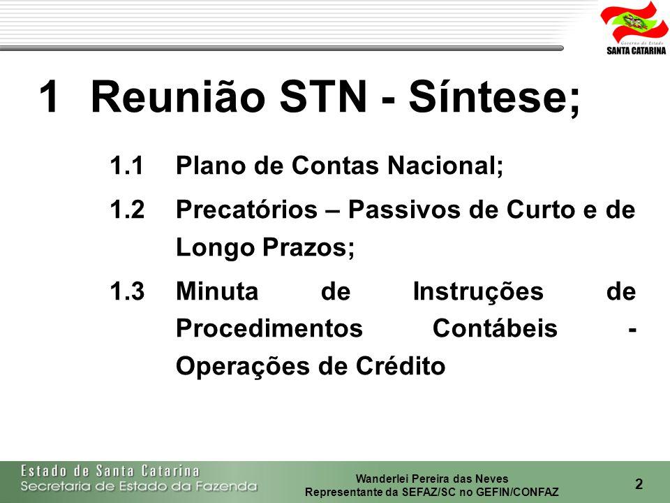1 Reunião STN - Síntese; 1.1 Plano de Contas Nacional;