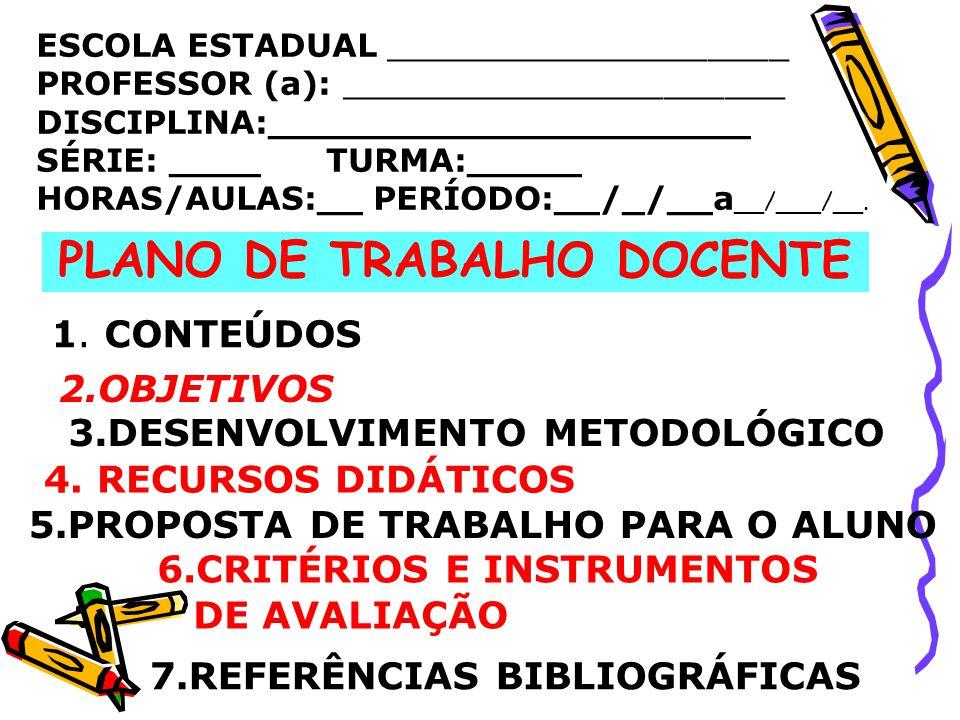 PLANO DE TRABALHO DOCENTE 3.DESENVOLVIMENTO METODOLÓGICO