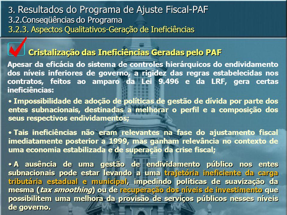 Cristalização das Ineficiências Geradas pelo PAF