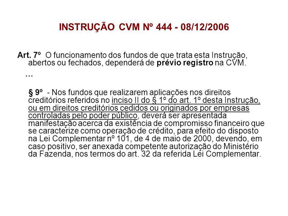 INSTRUÇÃO CVM Nº 444 - 08/12/2006