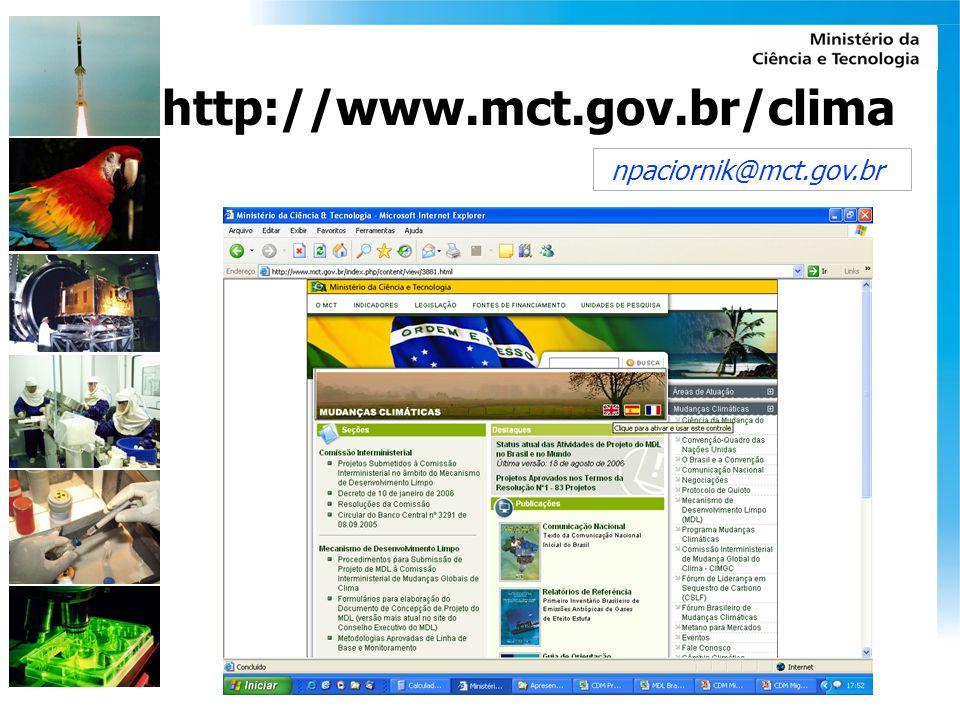 http://www.mct.gov.br/clima npaciornik@mct.gov.br